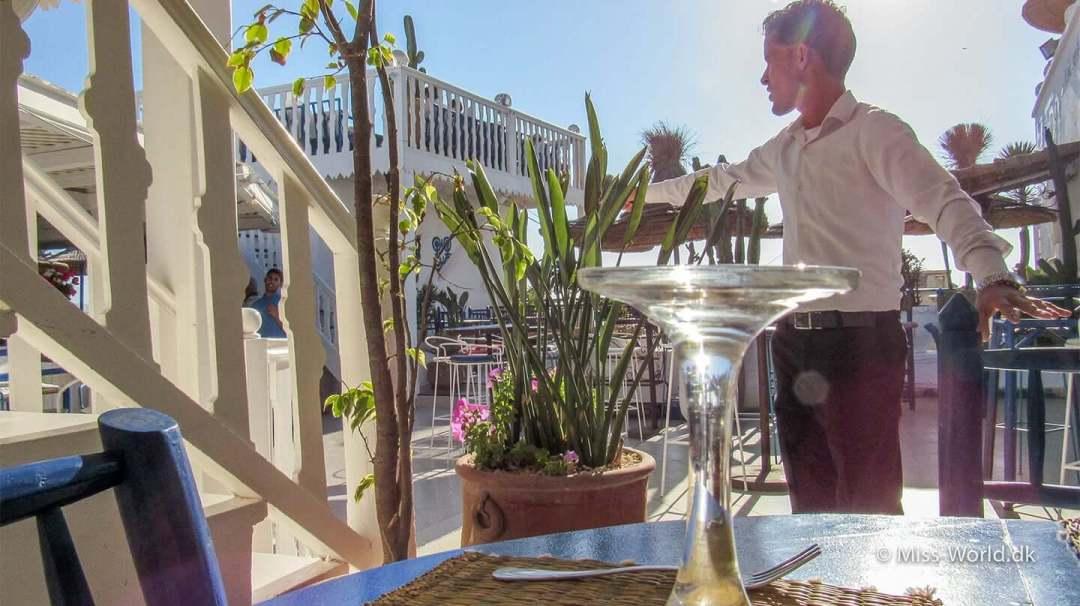 Taros Café Essaouira Morocco Waiter