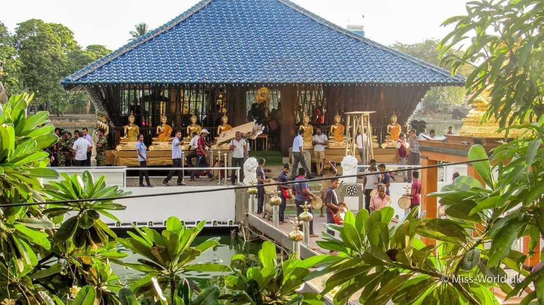 Vesak preparations in Seema Malaka Temple Colombo, Sri Lanka
