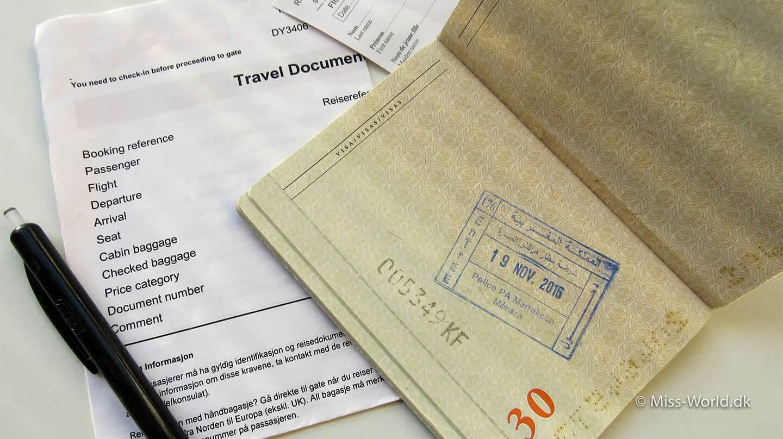 Sådan søger du visum til Marokko + Vigtig info i forbindelse med indrejse