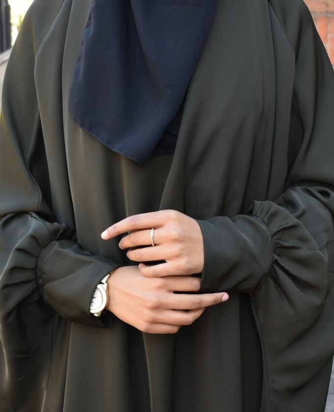 JASMIN Jilbab with pleated sleeves