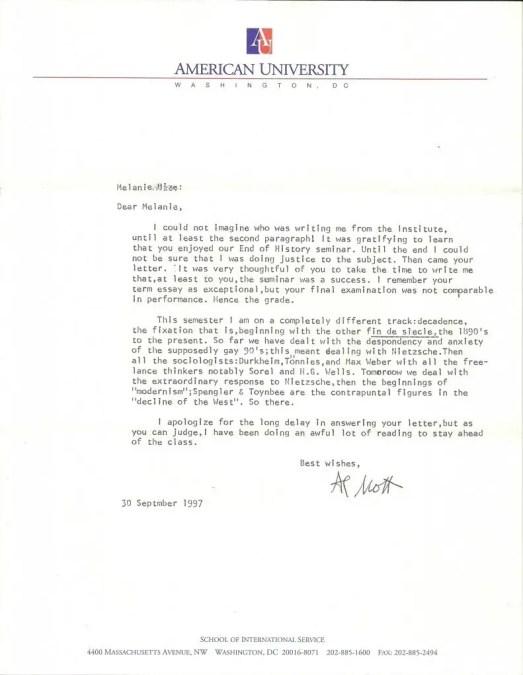 Letter of Note - Mott