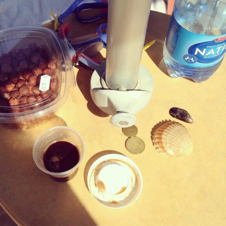 My beach table at Anzio