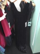 Velvet and beaded gown