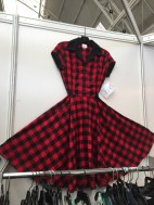 Dinette dress in red check
