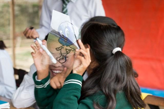 © Clara.Go-Plastic and Cartoons workshop a Srongtsen Bhrikuti Boarding High School.