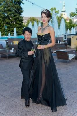 Miss Austria Wahl 2013, Casino Baden, Baden bei Wien, 23.6.2013, Amina DAGI, Nhut LA HONG