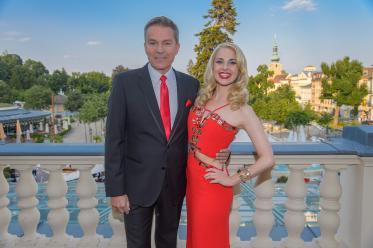 Miss Austria Wahl 2015 - Finale, Casino Baden, Baden bei Wien, 2.7.2015, Alfons HAIDER, Silvia SCHNEIDER