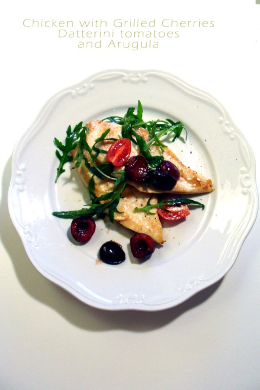 chicken grilled cherries