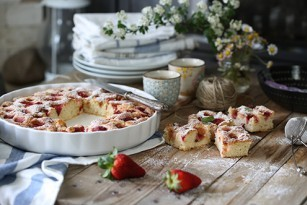 focaccia sweet strawberry