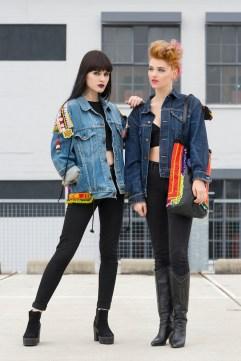 photoshoot miss billy fashion photography leather bag denim levi's vintage jackets