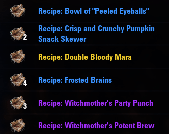 Witches Festival Recipes