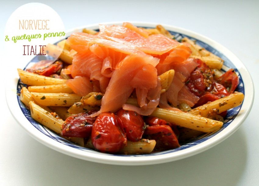 Penne au saumon - Cuisine italienne - Cuisine étudiante - Recette - Miss Blemish