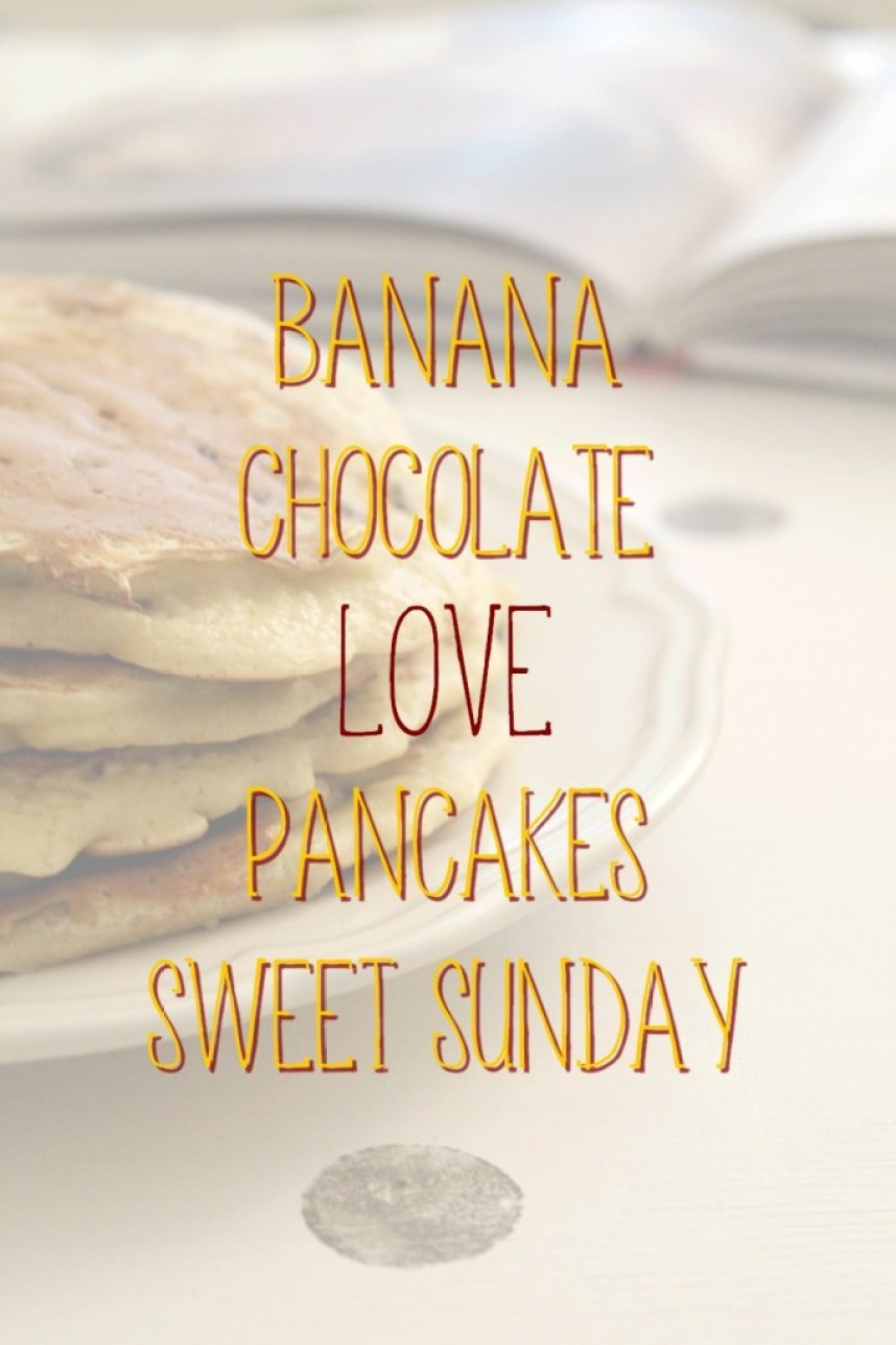 Banana & Chocolate pancakes - recette - Miss Blemish