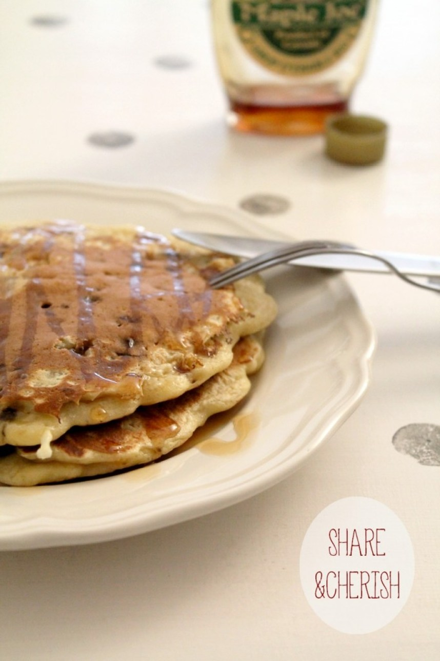 Banana & Chocolate pancakes - Miss Blemish