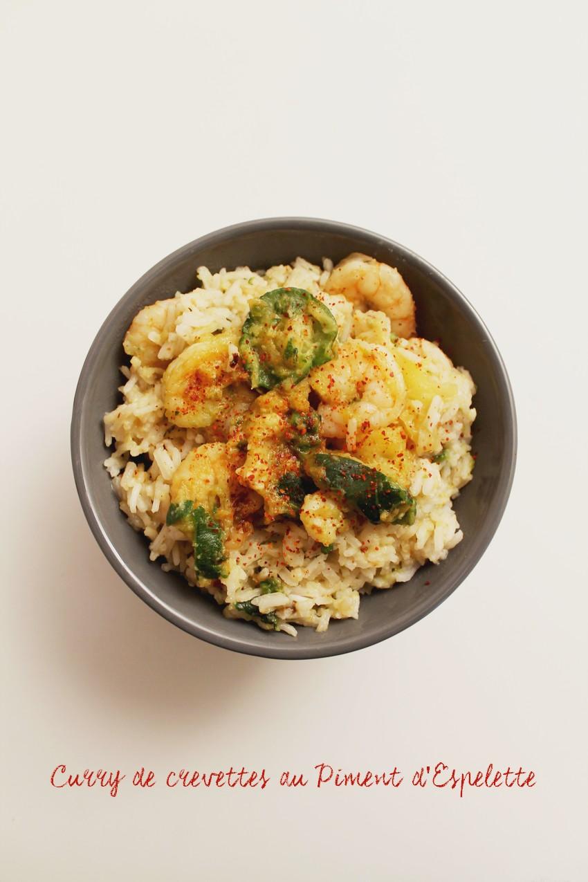 curry de crevettes au piment d'espelette