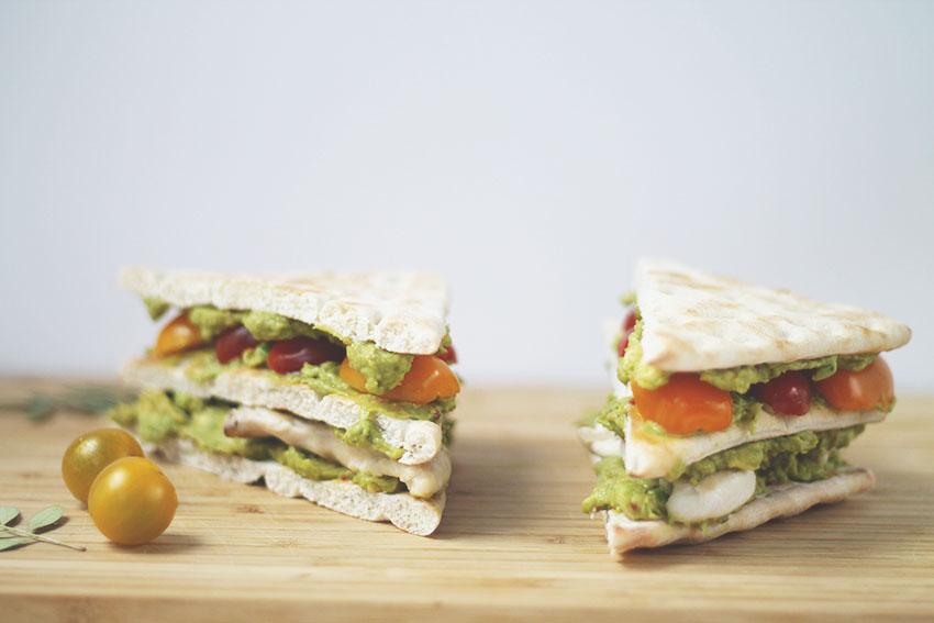 triangles poulet guacamole - Cuisine - Miss Blemish