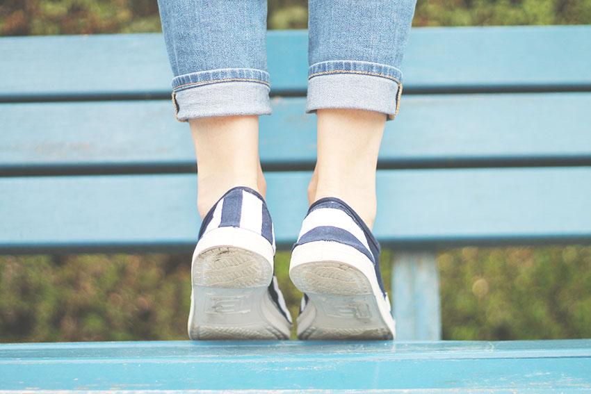 Les Boréales - Blue Mood : Un DIY pour de jolies tennis d'été - Miss Blemish