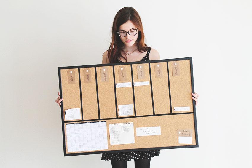 DIY un semainier universel - Organisation - Miss Blemish