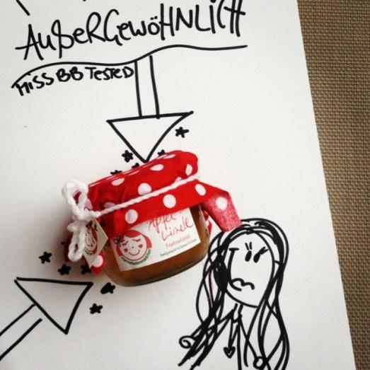 Marmeladenmädchen Marmeladentest selbstgemacht Kirsche Schoko Tomate Apfel Limetten Luxusfrucht