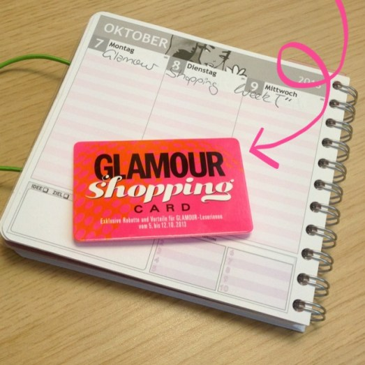 Glamour Shopping Card Oktober 2013