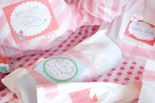 Lovelylicious Box Smells Like Spring Spirit 2014 Boxentausch Blogger Box Überraschung Balea Sun Duschgel HEMA Marmeladenmädchen Fingrs Lindt Schokolade Prosecco Marmelade Bonn