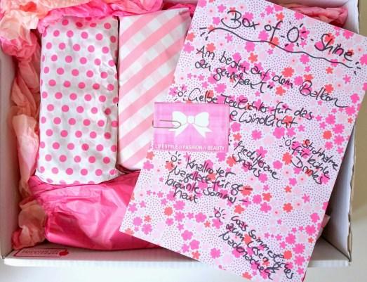 Lovelyliciousbox Box of Summer Bloggeraktion Blogger Boxentausch Überraschung Jamies Depot P2 Cosmetics Handcreme Paket Sommer Partydeko Dr Kargs Deli Magazin Butlers Manhattan Nagellack