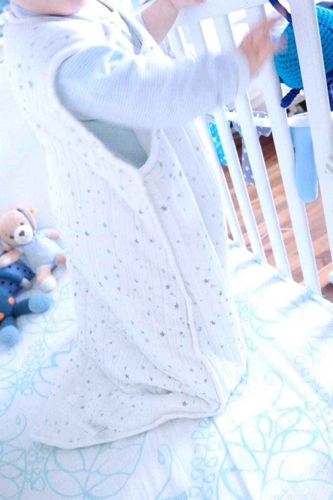Aden Anais Bettuch Babyschlaf Mamablog MissBonneBonne Schlafsack Sternchen