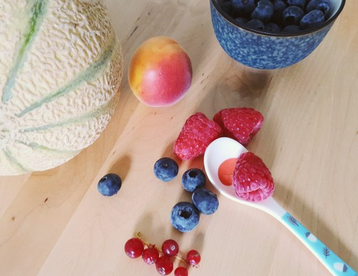Sommerfrüchte heidelbeeren, himbeeren, melone kinder rezepte