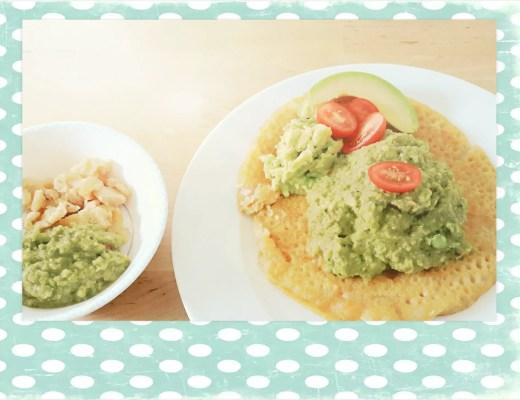 Kinderrezept: Dosa Omeletten mit Avocadomus