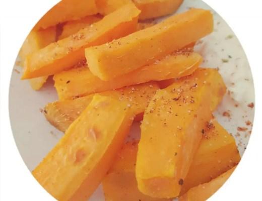 Süsskartoffel pommesfrites fries selbstgemacht rezept familie kind