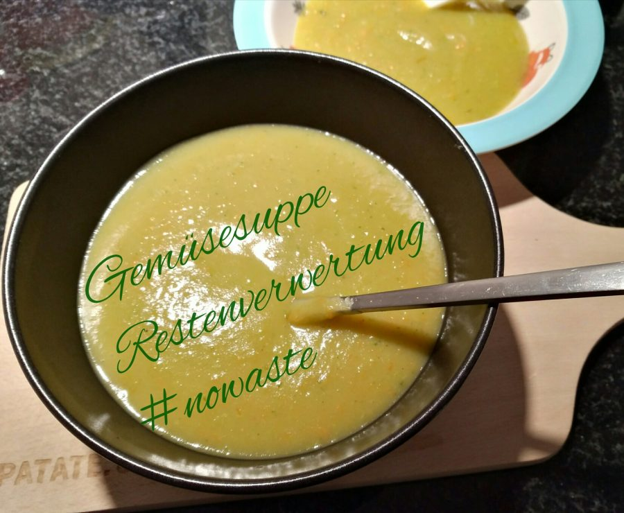 Suppe aus Resten, foodwaste, no waste