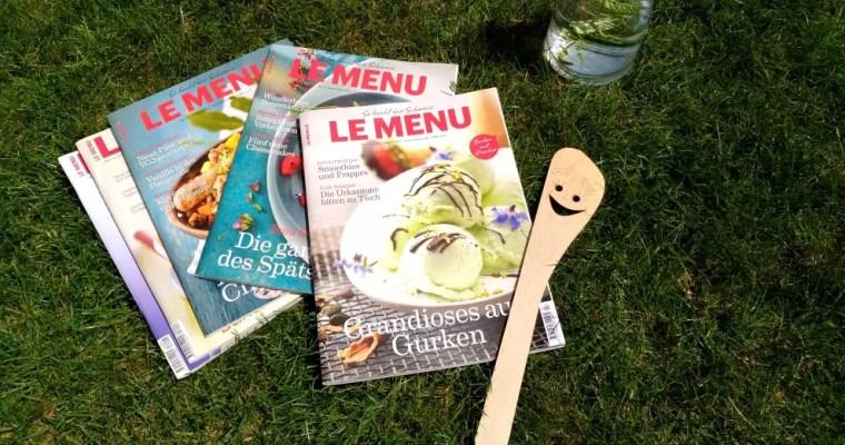 Gewinne eines von 3 Jahresabonnements des Kochmagazins LE MENU