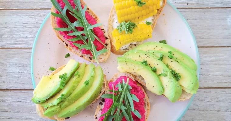 Open Sandwich – farbige Sommerbrötchen
