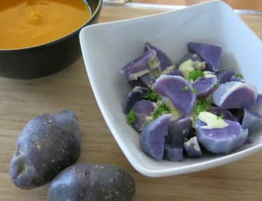 Blauer Kartoffelsalat rezept familie vegetarisch