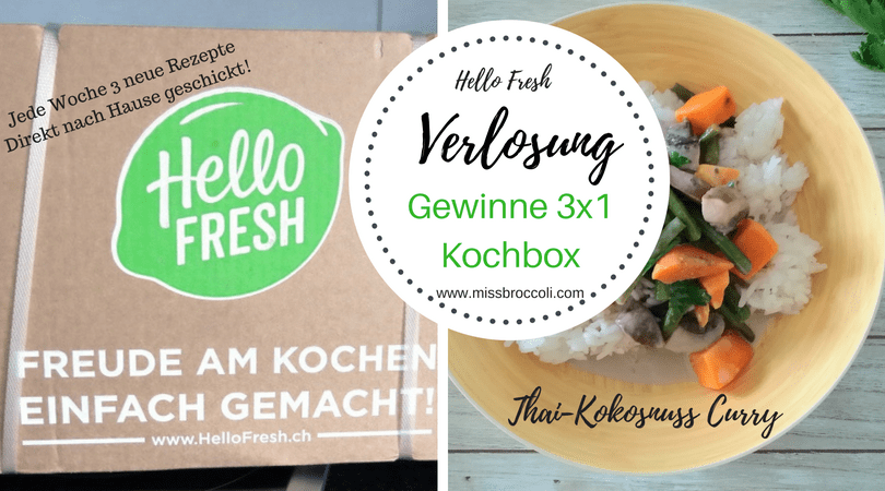 Hello Fresh: Verlosung von 3 Kochboxen.