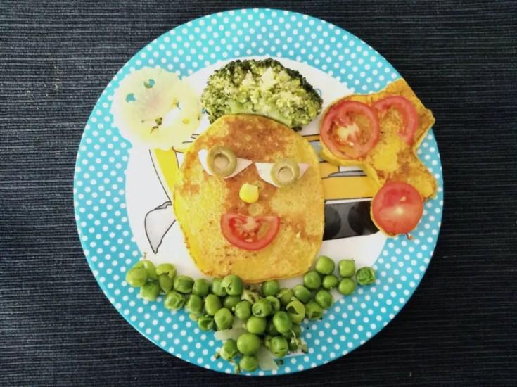 Cachapas, Maisküchlein mit Broccoli
