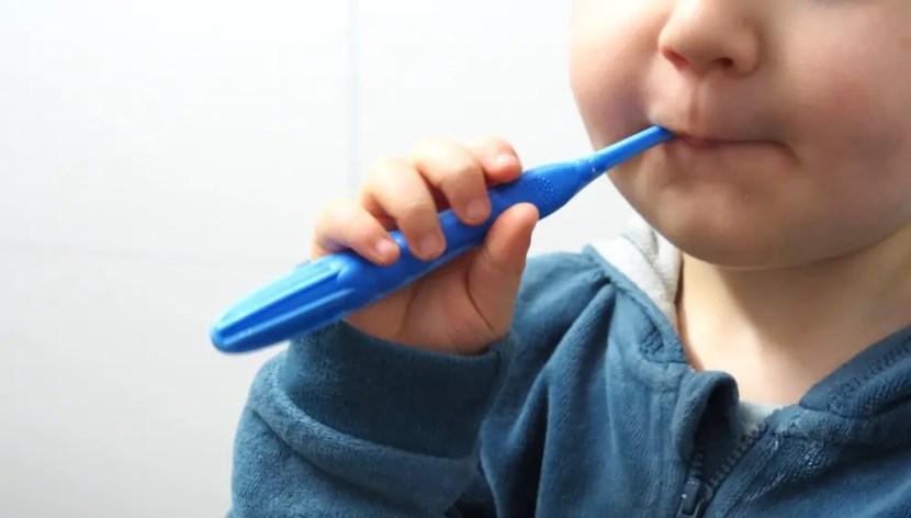 Zähneputzen Kleinkind baby mund zahnbürste