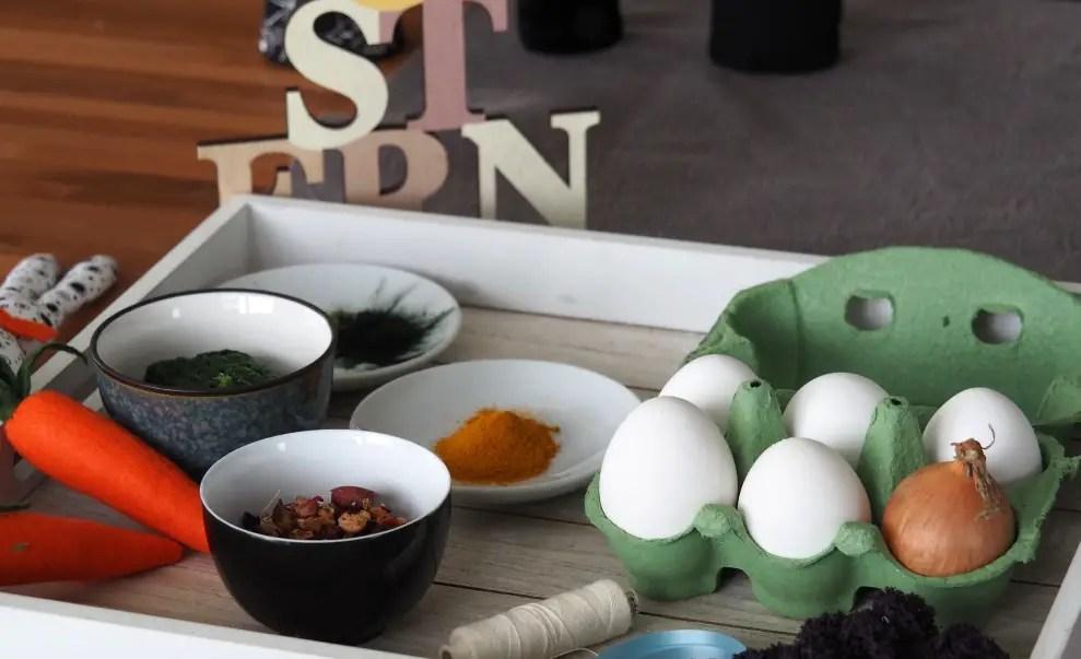Ostereier natürlich färben mit Kindern - mit Farbstoffen aus der ...