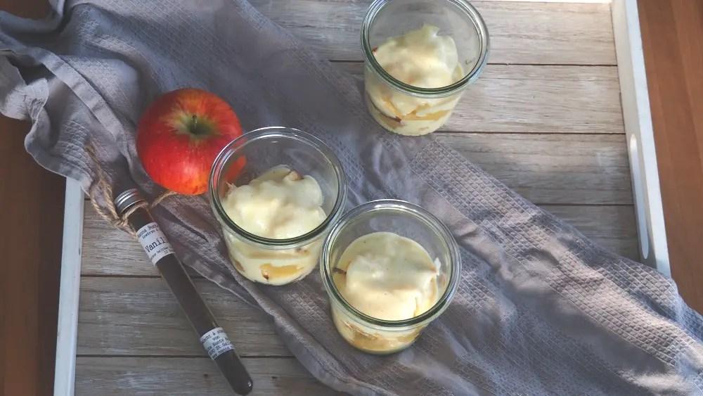 Götterspeise Apfelmus Rezept Apfel Vanillesauce Vanillecreme