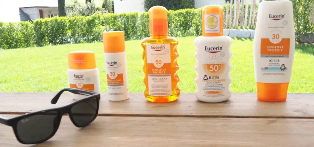 Eucerin Sonnenschutz testbericht, blog, mama, lichtschutzfaktor 50, 30 test, sonnencreme