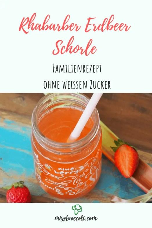 rhabarber erdbeer schorle rezept ohne zucker kinder familie einfach