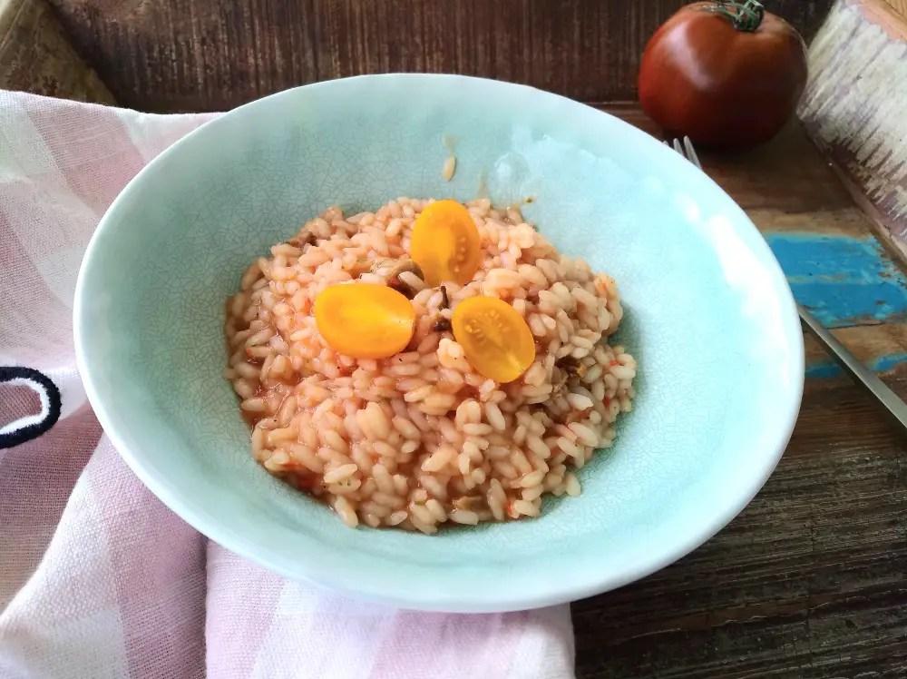 Tomatenrisotto, risotto, rezept, kinder, familie, schwanger, gemüseverweigerer, ohne zwiebeln