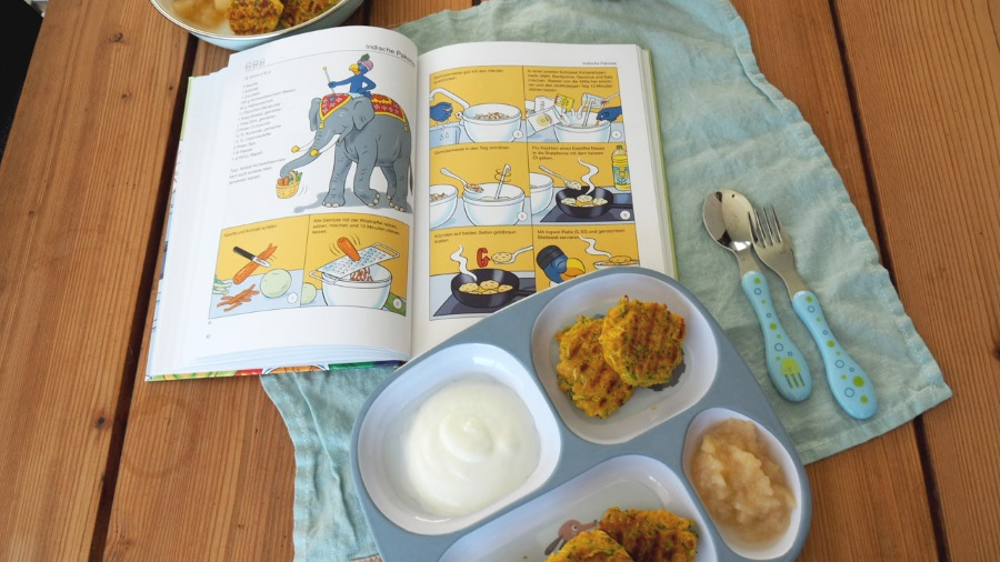 pakora, kinder rezept, globi, kochbuch, kinderkochbuch, rezension, mamablog, foodblog, kochen mit kindern, vegetarisch, vegan, hiltl,