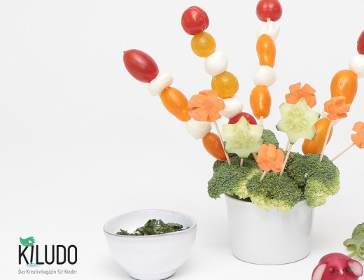 Gemüsespiess, kindergeburtstag, funny food, kidsfood, mamablog, kinder, geburtstag, apéro, idee, rezept, broccoli spiess tomaten