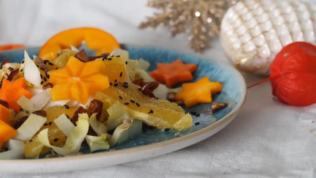 Weihnachtssalat mit Chicorée, Orangen und Gemüsesternen ⋆ Miss Broccoli