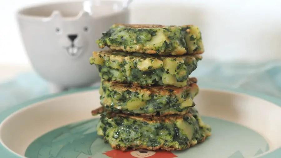 spinatpuffer tätschli bratling vegetarisch spinat kinder rezept familie resten schnell einfach tots