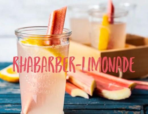 rhabarber limonade sirup getränk selbstgemacht rezept kinder einfach schnell sommer