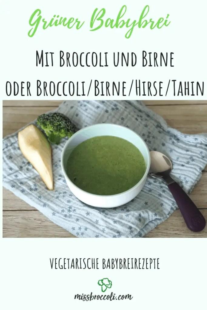 broccoli birnen babybrei
