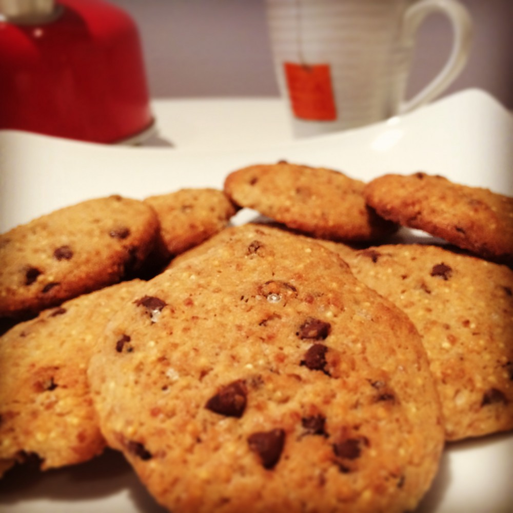 Cookies alla quinoa per il tè