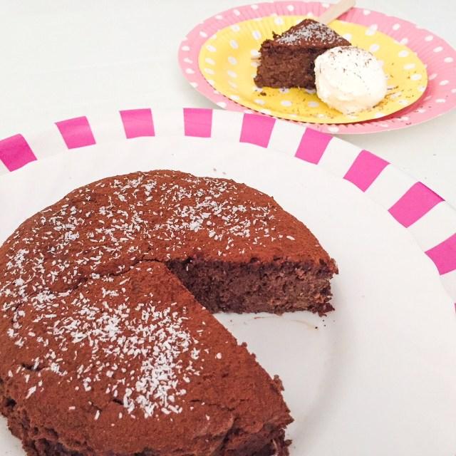 MOELLEUX al cioccolato, ricotta e cocco con fetta